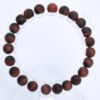 "8mm Matte Mahogany Red Tiger Eye Beads Bracelet Grade A Genuine Natural Round Gemstone 7"" Bulk Lot 1, 3, 5, 10 And 50 (106764h-064) 