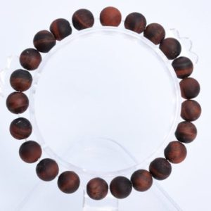 """Shop Men's Tiger Eye Bracelets! 8MM Matte Mahogany Red Tiger Eye Beads Bracelet Grade A Genuine Natural Round Gemstone 7"""" BULK LOT 1,3,5,10 and 50 (106764h-064) 