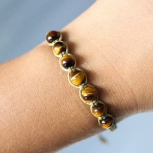 Tiger Eye Bracelet | Natural genuine Tiger Eye bracelets. Buy crystal jewelry, handmade handcrafted artisan jewelry for women.  Unique handmade gift ideas. #jewelry #beadedbracelets #beadedjewelry #gift #shopping #handmadejewelry #fashion #style #product #bracelets #affiliate #ad