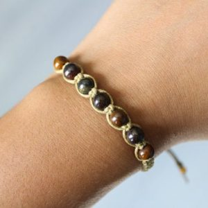 Shop Tiger Eye Bracelets! Tiger Iron Bracelet | Natural genuine Tiger Eye bracelets. Buy crystal jewelry, handmade handcrafted artisan jewelry for women.  Unique handmade gift ideas. #jewelry #beadedbracelets #beadedjewelry #gift #shopping #handmadejewelry #fashion #style #product #bracelets #affiliate #ad