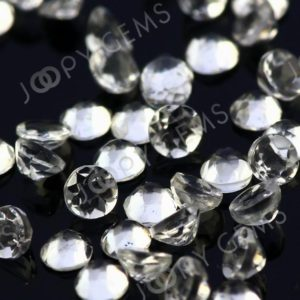 Shop Topaz Cabochons! White Topaz Rose Cut Cabochon 2mm Round – per stone | Natural genuine stones & crystals in various shapes & sizes. Buy raw cut, tumbled, or polished gemstones for making jewelry or crystal healing energy vibration raising reiki stones. #crystals #gemstones #crystalhealing #crystalsandgemstones #energyhealing #affiliate #ad