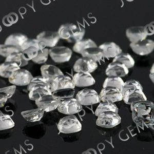 Shop Topaz Cabochons! White Topaz Rose Cut Cabochon 4mm Square Cushion – per stone | Natural genuine stones & crystals in various shapes & sizes. Buy raw cut, tumbled, or polished gemstones for making jewelry or crystal healing energy vibration raising reiki stones. #crystals #gemstones #crystalhealing #crystalsandgemstones #energyhealing #affiliate #ad