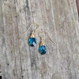 Shop Topaz Earrings! Simple London blue topaz earrings. Gold London blue topaz earrings.  Silver London blue topaz earrings. Rose gold London blue topaz earrings   Natural genuine Topaz earrings. Buy crystal jewelry, handmade handcrafted artisan jewelry for women.  Unique handmade gift ideas. #jewelry #beadedearrings #beadedjewelry #gift #shopping #handmadejewelry #fashion #style #product #earrings #affiliate #ad