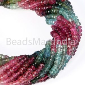 Shop Tourmaline Faceted Beads! Multi Tourmaline Faceted Rondelle Beads, Tourmaline Faceted Beads, Tourmaline Beads, Multi Tourmaline Beads, Multi Tourmaline Rondelle Beads | Natural genuine faceted Tourmaline beads for beading and jewelry making.  #jewelry #beads #beadedjewelry #diyjewelry #jewelrymaking #beadstore #beading #affiliate #ad