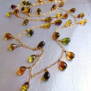 Shop Tourmaline Necklaces! Earthy natural Tourmaline Necklace, 14k gold chain, brown Green stone delicate chain, wire wrapped, dainty jewelry | Natural genuine Tourmaline necklaces. Buy crystal jewelry, handmade handcrafted artisan jewelry for women.  Unique handmade gift ideas. #jewelry #beadednecklaces #beadedjewelry #gift #shopping #handmadejewelry #fashion #style #product #necklaces #affiliate #ad