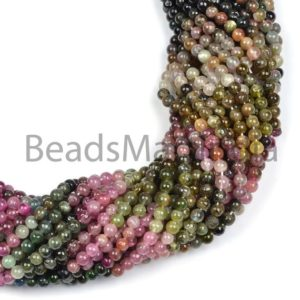 Shop Tourmaline Round Beads! Multi Tourmaline Plain Round Beads, multi Tourmaline Smooth Beads, tourmaline Plain Beads, multi Tourmaline Beads, multi Tourmaline Round Beads | Natural genuine round Tourmaline beads for beading and jewelry making.  #jewelry #beads #beadedjewelry #diyjewelry #jewelrymaking #beadstore #beading #affiliate #ad