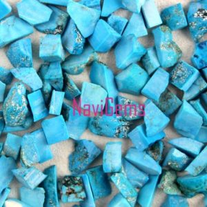 Shop Turquoise Chip & Nugget Beads! 50 Pieces Natural Turquoise Rough,Loose Gemstone,6-8 MM Approx,Rough Gemstone,Turquoise Rough,Making Jewelry,Undrilled Rough,Wholesale Price | Natural genuine chip Turquoise beads for beading and jewelry making.  #jewelry #beads #beadedjewelry #diyjewelry #jewelrymaking #beadstore #beading #affiliate #ad