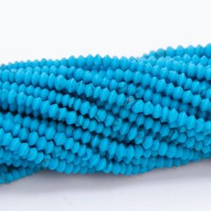Shop Turquoise Rondelle Beads! 2x2MM Deep Blue Turquoise Beads AAA Natural Gemstone Full Strand Rondelle Loose Beads 14.7 Bulk Lot Options (109909-3103) | Natural genuine rondelle Turquoise beads for beading and jewelry making.  #jewelry #beads #beadedjewelry #diyjewelry #jewelrymaking #beadstore #beading #affiliate #ad