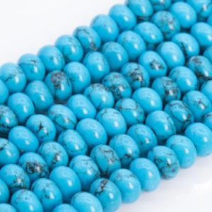 Shop Turquoise Rondelle Beads! Blue Turquoise Loose Beads Rondelle Shape 6x4mm 8x5mm | Natural genuine rondelle Turquoise beads for beading and jewelry making.  #jewelry #beads #beadedjewelry #diyjewelry #jewelrymaking #beadstore #beading #affiliate #ad