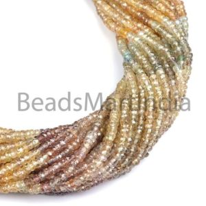 Shop Zircon Beads! Natural Mutli Zircon Faceted Rondelle Shape Beads, Multi Zircon Natural Rondelle Shape Beads, Multi Color Zircon Faceted Beads | Natural genuine faceted Zircon beads for beading and jewelry making.  #jewelry #beads #beadedjewelry #diyjewelry #jewelrymaking #beadstore #beading #affiliate #ad