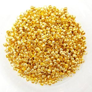 Shop Crimp Beads! 100 Gold Plated Crimp Beads 3mm End Beads Jewellery Findings J01252Y | Shop jewelry making and beading supplies, tools & findings for DIY jewelry making and crafts. #jewelrymaking #diyjewelry #jewelrycrafts #jewelrysupplies #beading #affiliate #ad