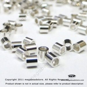 Shop Crimp Beads! 100 pieces 2mm Sterling Silver CRIMP BEADS 2 x 2 mm Tube Spacers F32 | Shop jewelry making and beading supplies, tools & findings for DIY jewelry making and crafts. #jewelrymaking #diyjewelry #jewelrycrafts #jewelrysupplies #beading #affiliate #ad