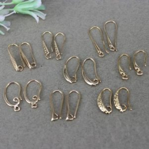 Shop Ear Wires & Posts for Making Earrings! 10Pairs Mix Style Gold Metal Copper Ear Wires,Earring Hooks For DIY Making Jewelry | Shop jewelry making and beading supplies, tools & findings for DIY jewelry making and crafts. #jewelrymaking #diyjewelry #jewelrycrafts #jewelrysupplies #beading #affiliate #ad