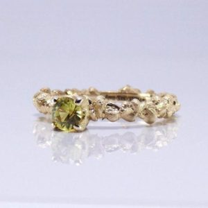 14k Sapphire engagement ring size 6 1/2, yellow Sapphire ring in solid yellow raw gold. | Natural genuine Array rings, simple unique alternative gemstone engagement rings. #rings #jewelry #bridal #wedding #jewelryaccessories #engagementrings #weddingideas #affiliate #ad