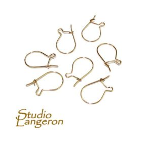 Shop Ear Wires & Posts for Making Earrings! 14K Yellow Gold Filled Kidney Small Ear Wire, Earrings gold filled, Kidney Ear Wire, Jewelry making, Earring components – 1 pair (2 pieces) | Shop jewelry making and beading supplies, tools & findings for DIY jewelry making and crafts. #jewelrymaking #diyjewelry #jewelrycrafts #jewelrysupplies #beading #affiliate #ad