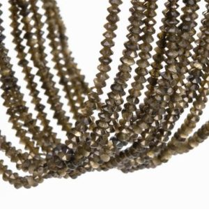 Shop Golden Obsidian Beads! 190 Pcs – 3×1.5MM Golden Obsidian Beads Grade AAA Genuine Natural Faceted Rondelle Gemstone Loose Beads (111797) | Natural genuine rondelle Golden Obsidian beads for beading and jewelry making.  #jewelry #beads #beadedjewelry #diyjewelry #jewelrymaking #beadstore #beading #affiliate #ad