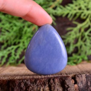Shop Angelite Cabochons! 58Cts Natural Angelite Cabochon, Angelite Pear Shape Cabochon Loose Gemstone For Jewelry, Approx 39X32X5 mm   Natural genuine stones & crystals in various shapes & sizes. Buy raw cut, tumbled, or polished gemstones for making jewelry or crystal healing energy vibration raising reiki stones. #crystals #gemstones #crystalhealing #crystalsandgemstones #energyhealing #affiliate #ad