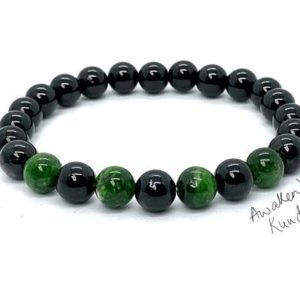 Shop Apache Tears Jewelry! AAA  8mm Apache tears Mala Beads Bracelet, Diopside, Grief Support Bracelet, Loss, Bereavement Bracelet Grief Affirmation Emotional Support | Natural genuine Apache Tears jewelry. Buy crystal jewelry, handmade handcrafted artisan jewelry for women.  Unique handmade gift ideas. #jewelry #beadedjewelry #beadedjewelry #gift #shopping #handmadejewelry #fashion #style #product #jewelry #affiliate #ad