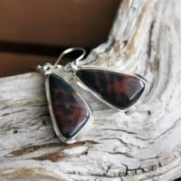 Rare Cady Agate Silver Earrings | Natural genuine Gemstone jewelry. Buy crystal jewelry, handmade handcrafted artisan jewelry for women.  Unique handmade gift ideas. #jewelry #beadedjewelry #beadedjewelry #gift #shopping #handmadejewelry #fashion #style #product #jewelry #affiliate #ad