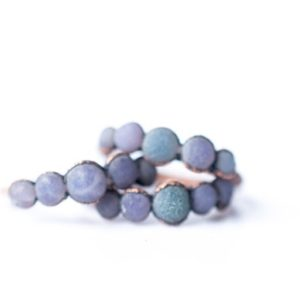 Shop Agate Rings! Multi Stone Ring | Grape Agate ring | Raw Grape Agate ring | Copper and natural agate jewelry | Raw stone ring | Rough grape agate jewelry | Natural genuine Agate rings, simple unique handcrafted gemstone rings. #rings #jewelry #shopping #gift #handmade #fashion #style #affiliate #ad