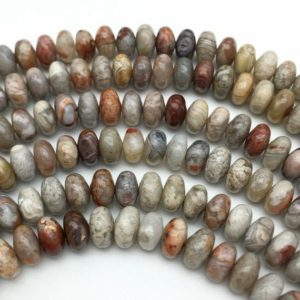 Shop Crazy Lace Agate Beads! 8x5mm Crazy Lace Agate Rondelle Beads, Gemstone Beads, Wholesale Beads | Natural genuine beads Agate beads for beading and jewelry making.  #jewelry #beads #beadedjewelry #diyjewelry #jewelrymaking #beadstore #beading #affiliate #ad