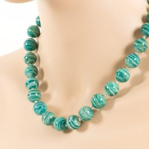 Shop Amazonite Necklaces! Russian Amazonite Necklace, Statement Natural Gemstone Necklace, Handmade Gemstone Jewelry | Natural genuine Amazonite necklaces. Buy crystal jewelry, handmade handcrafted artisan jewelry for women.  Unique handmade gift ideas. #jewelry #beadednecklaces #beadedjewelry #gift #shopping #handmadejewelry #fashion #style #product #necklaces #affiliate #ad