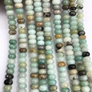 Shop Amazonite Rondelle Beads! 8x5mm Amazonite Rondelle Beads, Gemstone Beads, Wholesale Beads | Natural genuine rondelle Amazonite beads for beading and jewelry making.  #jewelry #beads #beadedjewelry #diyjewelry #jewelrymaking #beadstore #beading #affiliate #ad