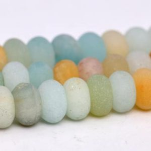 Shop Amazonite Rondelle Beads! Matte Multicolor Amazonite Beads Grade A Genuine Natural Gemstone Rondelle Loose Beads 6x4MM 8x5MM Bulk Lot Options | Natural genuine rondelle Amazonite beads for beading and jewelry making.  #jewelry #beads #beadedjewelry #diyjewelry #jewelrymaking #beadstore #beading #affiliate #ad
