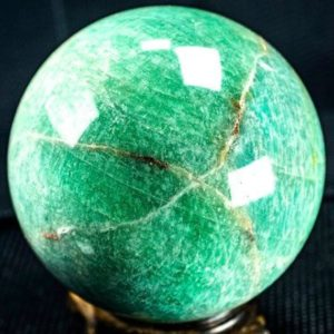 "Shop Amazonite Shapes! Amazonite Sphere  3.3"" Diameter and weighs 1.68 pounds 