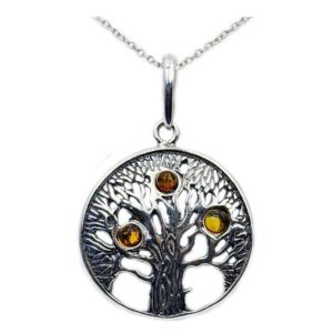 Shop Amber Necklaces! Tree of life' Amber & Sterling Silver Necklace, Gemstone Necklace AD600X16, AD600X18 | Natural genuine Amber necklaces. Buy crystal jewelry, handmade handcrafted artisan jewelry for women.  Unique handmade gift ideas. #jewelry #beadednecklaces #beadedjewelry #gift #shopping #handmadejewelry #fashion #style #product #necklaces #affiliate #ad