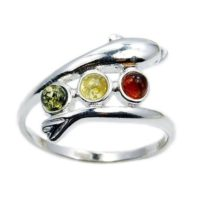 Elegant Dolphin Baltic Amber Ring Dolphin Ring & .925 Sterling Silver Ring Size, 6.25, 6.5, 8, Ad634, Ad635, Ad636, Ad637, Ad638 | Natural genuine Gemstone jewelry. Buy crystal jewelry, handmade handcrafted artisan jewelry for women.  Unique handmade gift ideas. #jewelry #beadedjewelry #beadedjewelry #gift #shopping #handmadejewelry #fashion #style #product #jewelry #affiliate #ad