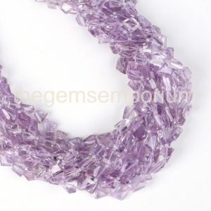 Shop Amethyst Chip & Nugget Beads! Pink Amethyst Faceted Nugget Beads, Pink Amethyst Nugget Shape Gemstone Beads, Pink Amethyst Wholesale Beads, Pink Amethyst Beads | Natural genuine chip Amethyst beads for beading and jewelry making.  #jewelry #beads #beadedjewelry #diyjewelry #jewelrymaking #beadstore #beading #affiliate #ad