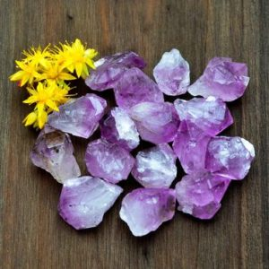 Shop Amethyst Points & Wands! 1 Raw Amethyst Crystal Point – Rough Amethyst Quartz – Healing Crystal – Natural Amethyst Gemstone | Natural genuine stones & crystals in various shapes & sizes. Buy raw cut, tumbled, or polished gemstones for making jewelry or crystal healing energy vibration raising reiki stones. #crystals #gemstones #crystalhealing #crystalsandgemstones #energyhealing #affiliate #ad