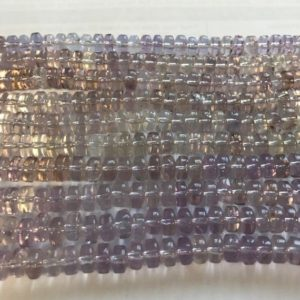 Shop Amethyst Rondelle Beads! Natural Amethyst 7x4mm Rondelle Gemstone Beads -7.5 inch strand | Natural genuine rondelle Amethyst beads for beading and jewelry making.  #jewelry #beads #beadedjewelry #diyjewelry #jewelrymaking #beadstore #beading #affiliate #ad