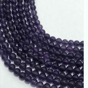 Shop Amethyst Round Beads! African Amethyst Smooth Round Semiprecious Stone Beads 4 to 4.5mm/Amethyst Beads/Gemstone beads/Ball Beads/Round Beads/Semiprecious Beads | Natural genuine round Amethyst beads for beading and jewelry making.  #jewelry #beads #beadedjewelry #diyjewelry #jewelrymaking #beadstore #beading #affiliate #ad
