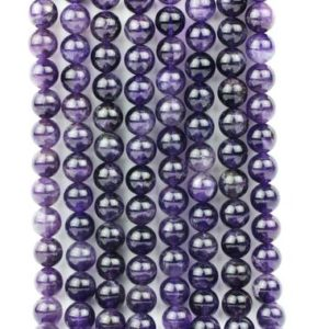 """Shop Amethyst Round Beads! Natural amethyst beads,purple beads,gemstone beads,round beads,semiprecious beads,amethyst loose beads,diy – 16"""" Full Strand 