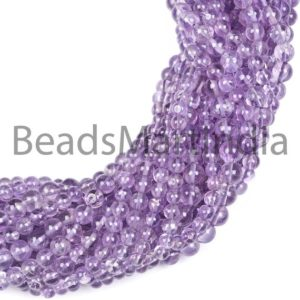 Shop Amethyst Round Beads! Amethyst Smooth Plain Round Gemstone Beads, Amethyst Smooth Gemstone Beads, Amethyst Beads, Amethyst 4-6mm | Natural genuine round Amethyst beads for beading and jewelry making.  #jewelry #beads #beadedjewelry #diyjewelry #jewelrymaking #beadstore #beading #affiliate #ad