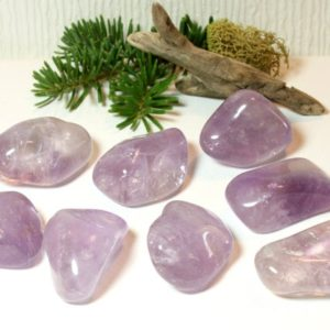 Shop Tumbled Amethyst Crystals & Pocket Stones! Amethyst Tumbled Stone Medium Natural Purple Polished Pocket Stone Healing Protection Crown Chakra Balance February birthstone 51029 | Natural genuine stones & crystals in various shapes & sizes. Buy raw cut, tumbled, or polished gemstones for making jewelry or crystal healing energy vibration raising reiki stones. #crystals #gemstones #crystalhealing #crystalsandgemstones #energyhealing #affiliate #ad