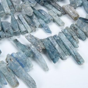 15.9 Inch Natural Raw Blue Apatite High Quality Crystal Beads Wholesale Mix Size Top Drilled Crystal 20~33×5~10mm | Natural genuine chip Gemstone beads for beading and jewelry making.  #jewelry #beads #beadedjewelry #diyjewelry #jewelrymaking #beadstore #beading #affiliate #ad