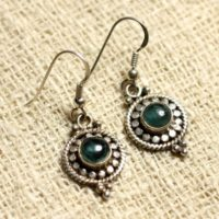 Bo210 – Earrings 925 Sterling Silver And Gemstone – Apatite 6mm Round | Natural genuine Gemstone jewelry. Buy crystal jewelry, handmade handcrafted artisan jewelry for women.  Unique handmade gift ideas. #jewelry #beadedjewelry #beadedjewelry #gift #shopping #handmadejewelry #fashion #style #product #jewelry #affiliate #ad