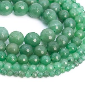 Shop Aventurine Beads! Genuine Natural Parsley Bunch Aventurine Loose Beads Micro Faceted Round Shape 6mm 8mm 10mm | Natural genuine beads Aventurine beads for beading and jewelry making.  #jewelry #beads #beadedjewelry #diyjewelry #jewelrymaking #beadstore #beading #affiliate #ad