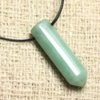 Green Aventurine – Stone Pendant Point 30mm | Natural genuine Gemstone jewelry. Buy crystal jewelry, handmade handcrafted artisan jewelry for women.  Unique handmade gift ideas. #jewelry #beadedjewelry #beadedjewelry #gift #shopping #handmadejewelry #fashion #style #product #jewelry #affiliate #ad