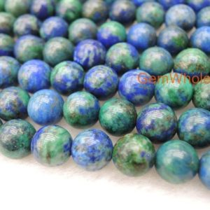 "Shop Azurite Round Beads! 15.5"" Azurite 6mm / 8mm / 10mm Round Beads, Green Blue Gemstone, High Quality Diy Beads, Gemstone Wholesaler, multi Color Stone 