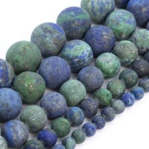Shop Azurite Round Beads! Matte Azurite Beads Grade AAA Natural Gemstone Round Loose Beads 4MM 6MM 8MM 10MM 15MM Bulk Lot Options | Natural genuine round Azurite beads for beading and jewelry making.  #jewelry #beads #beadedjewelry #diyjewelry #jewelrymaking #beadstore #beading #affiliate #ad