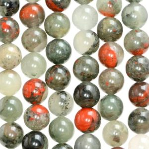Shop Bloodstone Beads! 10mm Blood Stone Gemstone Grade Aa Red Round Loose Beads 15 Inch Full Strand (80005947-m36) | Natural genuine round Bloodstone beads for beading and jewelry making.  #jewelry #beads #beadedjewelry #diyjewelry #jewelrymaking #beadstore #beading #affiliate #ad