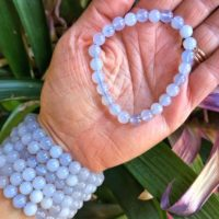 Blue Chalcedony Bracelets – Blue Chalcedony Jewelry No.60 | Natural genuine Gemstone jewelry. Buy crystal jewelry, handmade handcrafted artisan jewelry for women.  Unique handmade gift ideas. #jewelry #beadedjewelry #beadedjewelry #gift #shopping #handmadejewelry #fashion #style #product #jewelry #affiliate #ad