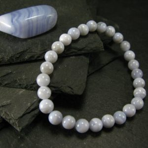 Shop Blue Lace Agate Bracelets! Blue Lace Agate Genuine Bracelet ~ 7 Inches  ~ 6mm Round Beads | Natural genuine Blue Lace Agate bracelets. Buy crystal jewelry, handmade handcrafted artisan jewelry for women.  Unique handmade gift ideas. #jewelry #beadedbracelets #beadedjewelry #gift #shopping #handmadejewelry #fashion #style #product #bracelets #affiliate #ad