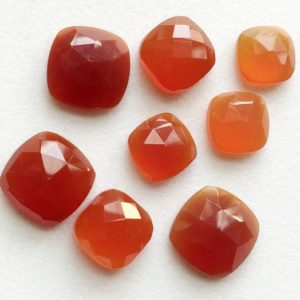 Shop Carnelian Cabochons! 10-13mm Carnelian Orange Chalcedony Rose Cut, Orange Flat Back Cushion Cut Cabochon Lot, Rose Cut Gemstones For Jewelry 5 Pieces – GODP1050 | Natural genuine stones & crystals in various shapes & sizes. Buy raw cut, tumbled, or polished gemstones for making jewelry or crystal healing energy vibration raising reiki stones. #crystals #gemstones #crystalhealing #crystalsandgemstones #energyhealing #affiliate #ad