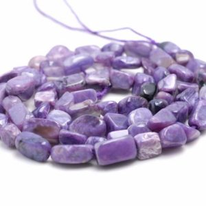 Shop Charoite Chip & Nugget Beads! 5-6MM  Genuine Charoite Gemstone Pebble Nugget Granule Loose Beads 15.5 inch Full Strand (80002066-A9) | Natural genuine chip Charoite beads for beading and jewelry making.  #jewelry #beads #beadedjewelry #diyjewelry #jewelrymaking #beadstore #beading #affiliate #ad