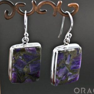 Shop Charoite Earrings! Sterling Silver Charoite Earrings | Natural genuine Charoite earrings. Buy crystal jewelry, handmade handcrafted artisan jewelry for women.  Unique handmade gift ideas. #jewelry #beadedearrings #beadedjewelry #gift #shopping #handmadejewelry #fashion #style #product #earrings #affiliate #ad